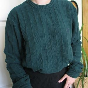 Cozy pine green Chaps mock neck sweater